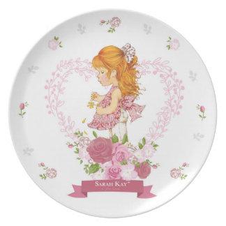 Sarahs Kay Fleur Magenta der Porzellan-Platten-#4 Teller