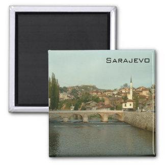 Sarajevo - lateinische Brücke Quadratischer Magnet