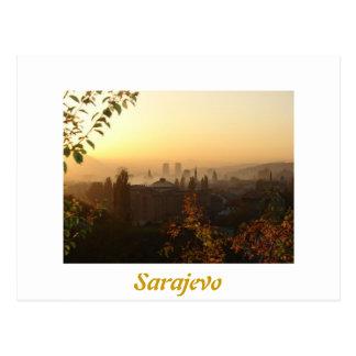Sarajevo morgens postkarte