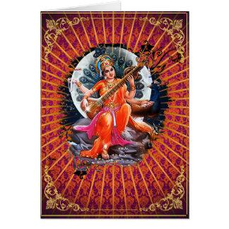Sarasvati - Karte, Gruß, Anmerkung, leer Karte
