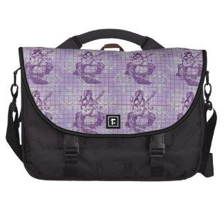 Saraswati blaue violette Pflaume lila Laptop Taschen