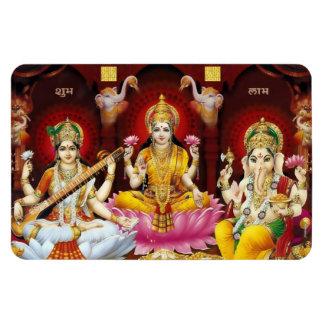 Saraswati Lakshmi u Ganesha Flexi Magnet