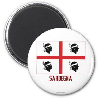 Sardegna Flagge mit Namen Magnete