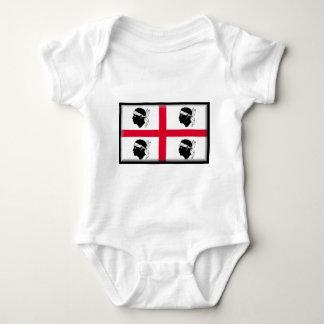 Sardinien-Flagge Baby Strampler