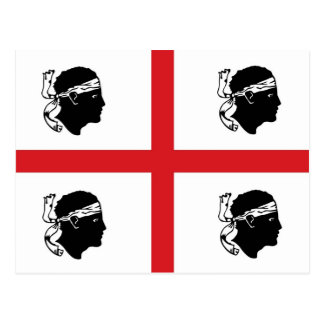 Sardinien-Flaggenitalien-Regionsinsel ethnisch Postkarte