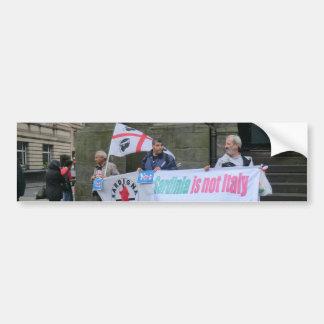 Sardinische Unabhängigkeits-Aktivisten in Autoaufkleber