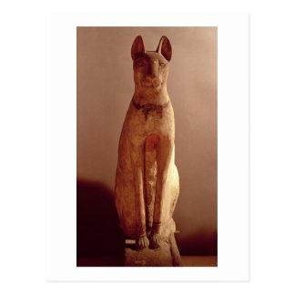 Sarg einer Katze geschützt von der Göttin Bastet Postkarten