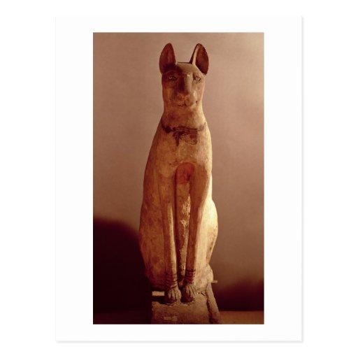 Sarg einer Katze geschützt von der Göttin Bastet ( Postkarten