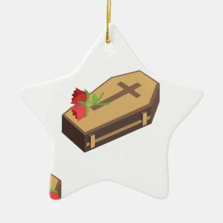 Sarg emojis keramik Stern-Ornament