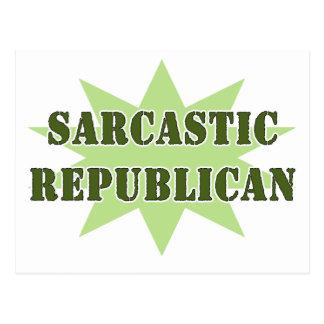 Sarkastischer Republikaner Postkarte