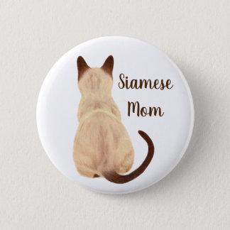 Sasha siamesische Katzen-Mamma-Miezekatze, die weg Runder Button 5,1 Cm