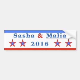 Sasha u. Malia für Präsidenten 2016! Autoaufkleber