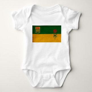 Saskatchewan-Flagge Baby Strampler