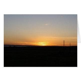 Saskatchewan-Sonnenuntergang Karte