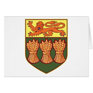 Saskatchewan-Wappen (abwechselnd) Auto grüßend Karte