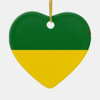 SaskatchewanFlagge Keramik Herz-Ornament