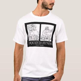 Sasquatch Fitness: Springen Sie Hocken T-Shirt
