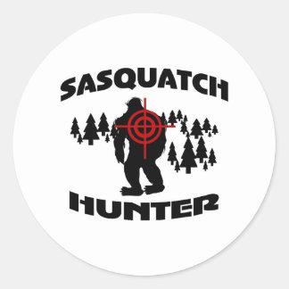 Sasquatch Jäger Runde Aufkleber