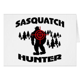 Sasquatch Jäger Grußkarte