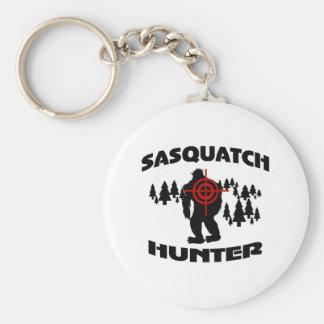 Sasquatch Jäger Standard Runder Schlüsselanhänger