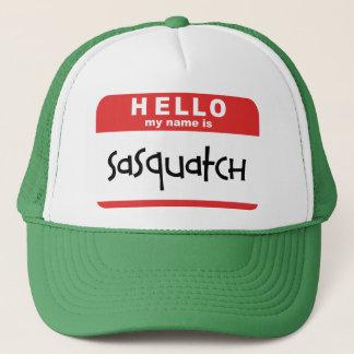 sasquatch NamensAbzeichen-Fernlastfahrerhut großer Truckerkappe