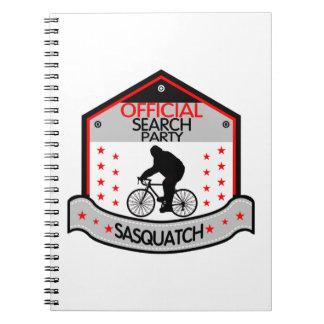 Sasquatch offizielles SuchParty Spiral Notizblock