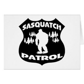 Sasquatch Patrouillen-WaldAbzeichen Grußkarte
