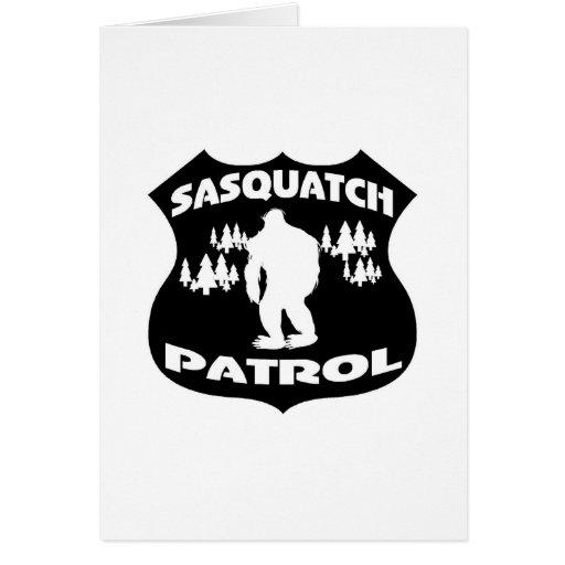 Sasquatch Patrouillen-WaldAbzeichen Karten