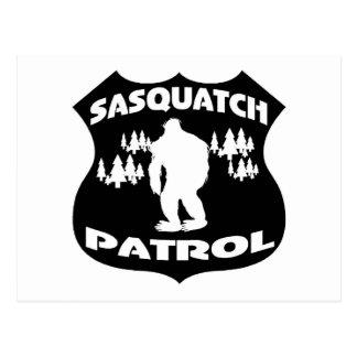 Sasquatch Patrouillen-WaldAbzeichen Postkarte