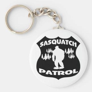 Sasquatch Patrouillen-WaldAbzeichen Standard Runder Schlüsselanhänger
