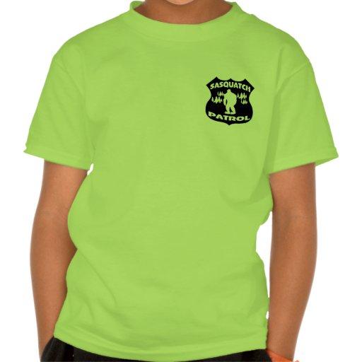 Sasquatch Patrouillen-WaldAbzeichen Shirts