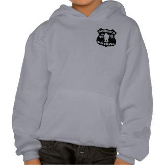 Sasquatch Patrouillen-WaldAbzeichen Kapuzensweater