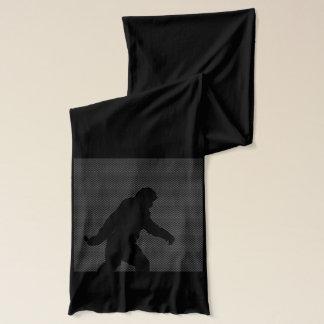 Sasquatch Silhouette auf Kohlenstoff-Faser-Druck Schal