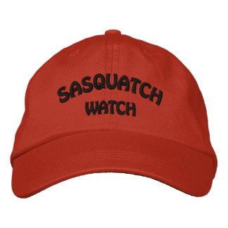 Sasquatch Uhr-Orange gestickte Kappe