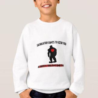 Sasquatch Valentinstag Sweatshirt