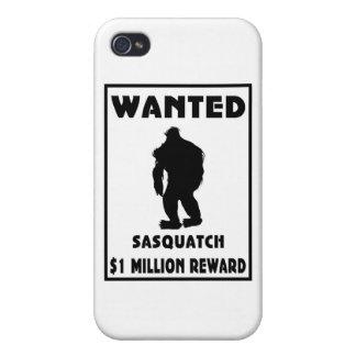 Sasquatch wollte Plakat iPhone 4 Etui