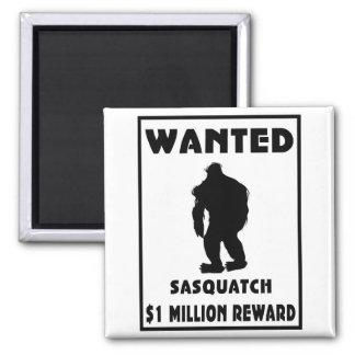 Sasquatch wollte Plakat Kühlschrankmagnete