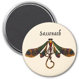 Sassenach Libelle Runder Magnet 7,6 Cm