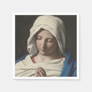 Sassoferrato - Madonna im Gebet Papierservietten