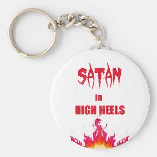 Satan im hohen lustigen Zitat des Heelses | Schlüsselanhänger