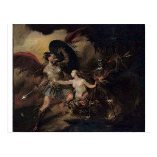 Satan, Sünde und Tod durch William Hogarth Postkarte