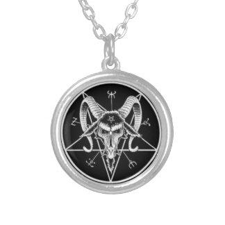 satanische Symbolhalskette Halskette Mit Rundem Anhänger