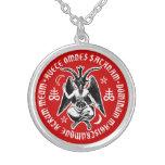 Satanische Ziege ging Baphomet voran Personalisierte Halskette