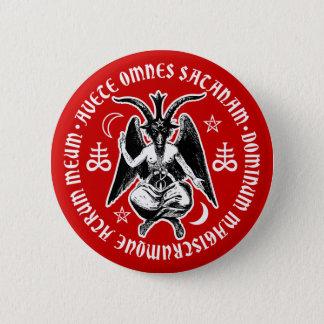 Satanische Ziege ging Baphomet voran Runder Button 5,7 Cm