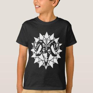 Satanischer Ziegen-Kopf mit dem Chaos-Stern (weiß) T-Shirt
