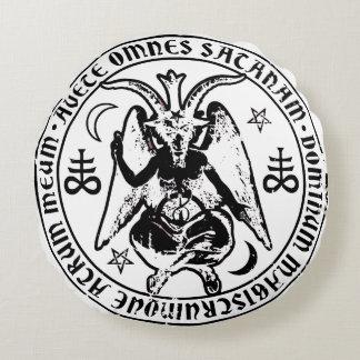 Satanisches Baphomet Rundes Kissen