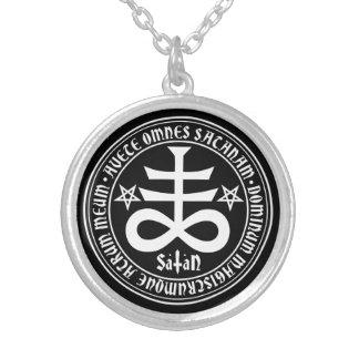Satanisches Kreuz mit Hagel Satan Text und Selbst Gestalteter Schmuck