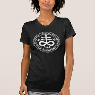 Satanisches Kreuz mit Hagel Satan Text und T-Shirt