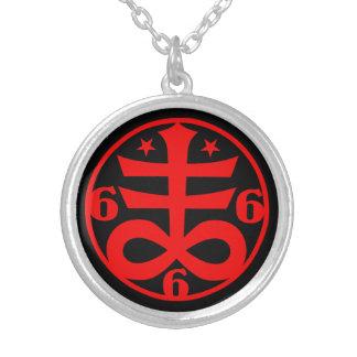Satanisches QuerGoth geheimnisvolles Symbol Versilberte Kette