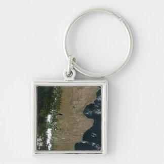 Satellitenansicht der Patagoniaregion Schlüsselanhänger